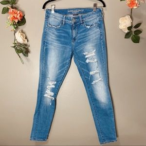 American Eagle distressed jeggings sz 8